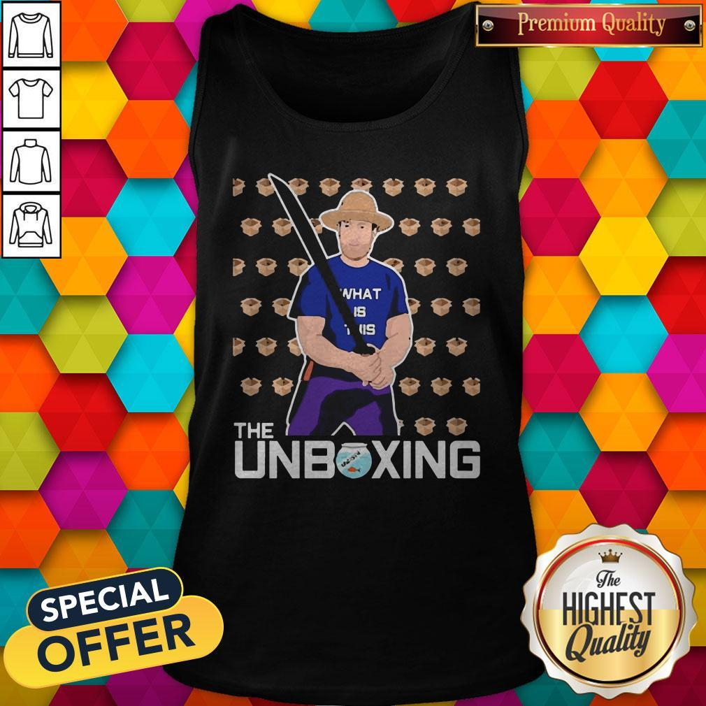 Nice Barstool Sport The Unboxing David Portnoy Tank Top