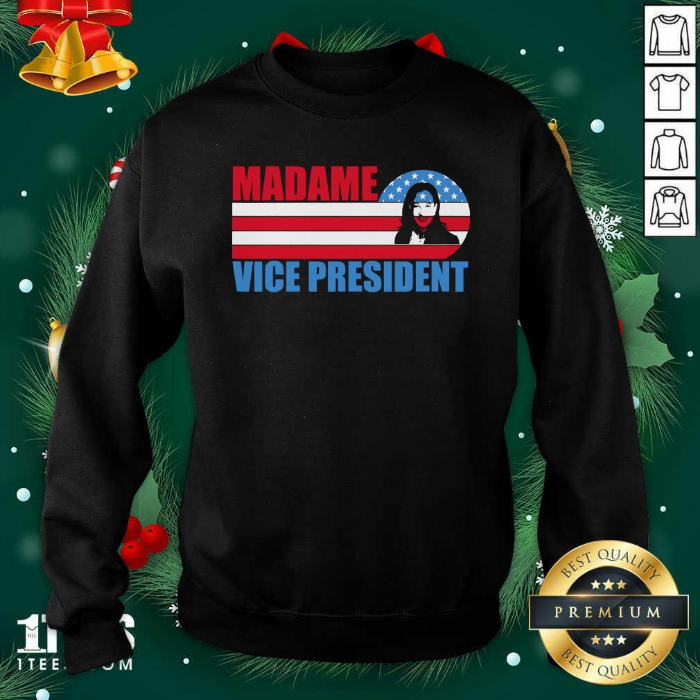 Madame Vice President Vp Kamala Harris Election 2020 American Flag Sweatshirt- Design By 1Tees.com