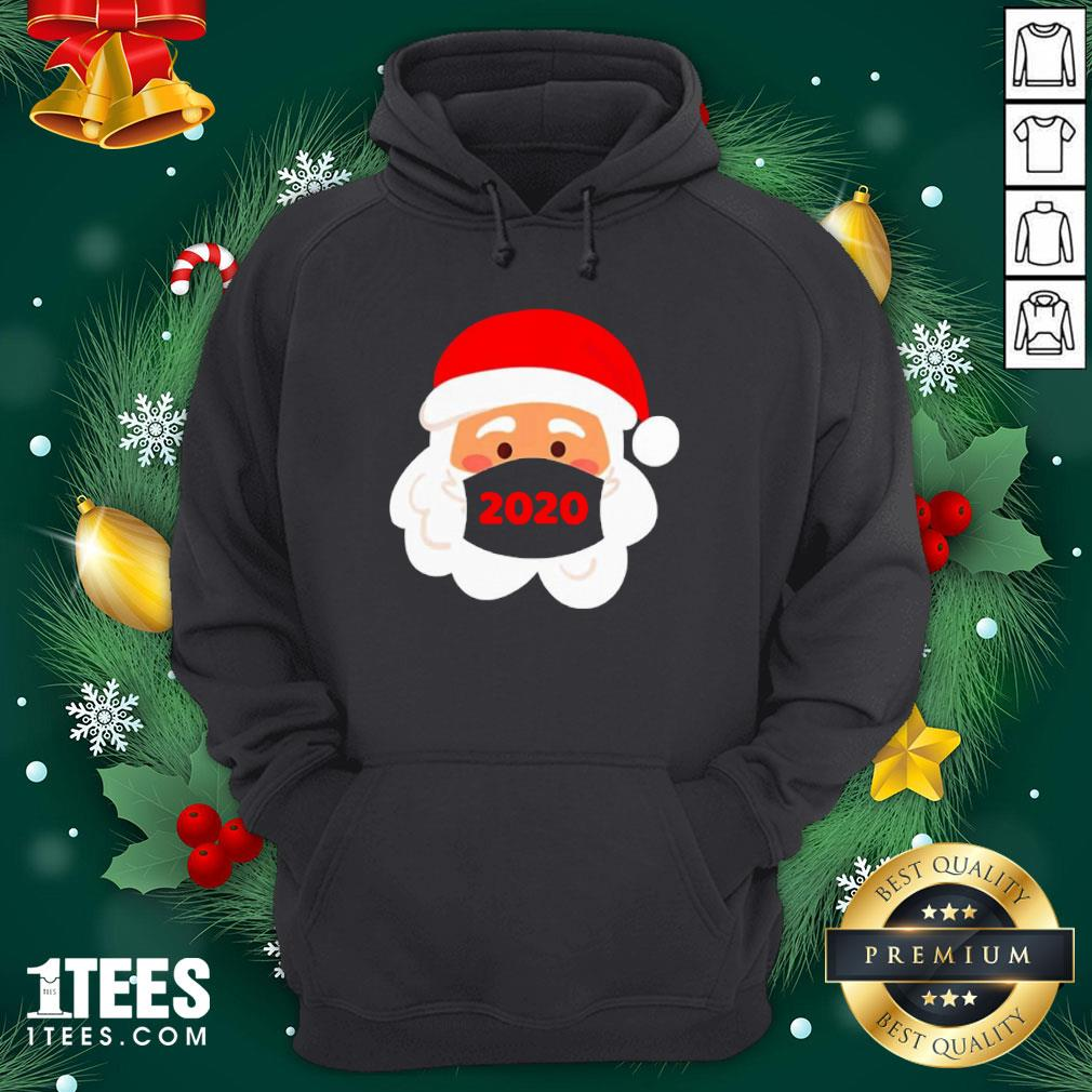 Cool Santa Claus Face Mask Christmas Hoodie - Design By 1tee.com