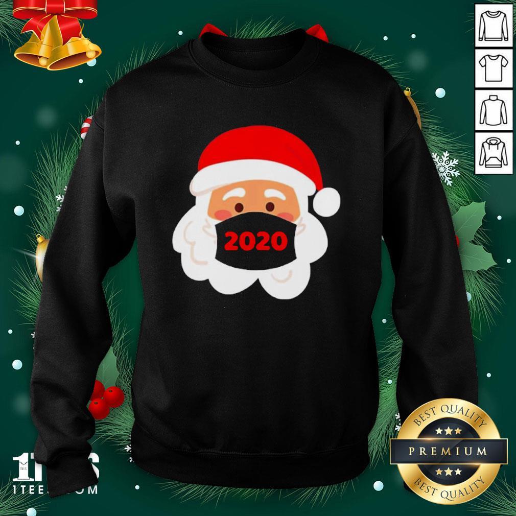 Cool Santa Claus Face Mask Christmas Sweatshirt - Design By 1tee.com