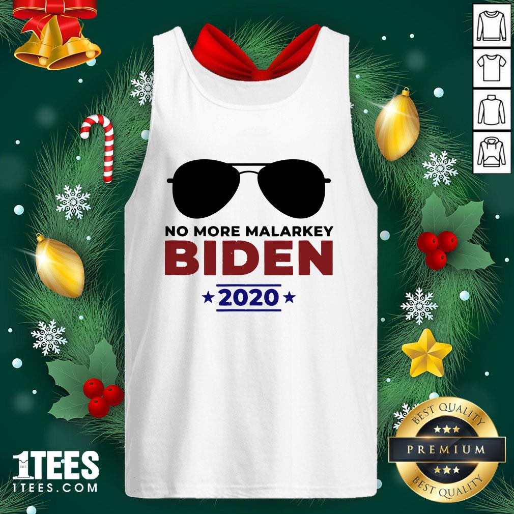 Funny Joe Biden For President 2020 No More Malarkey Tank Top - Design By 1tee.com