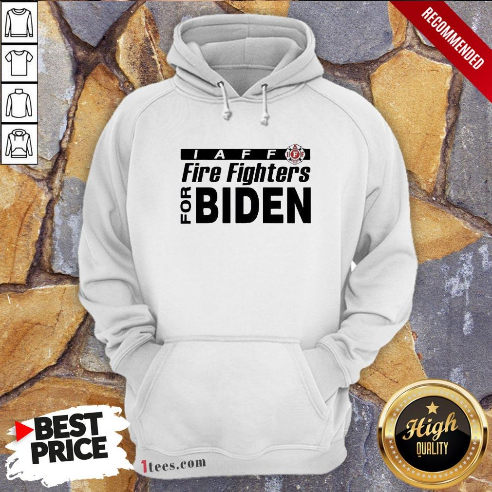 Good Iaff firefighters for biden Hoodie Design By T-shirtbear.com
