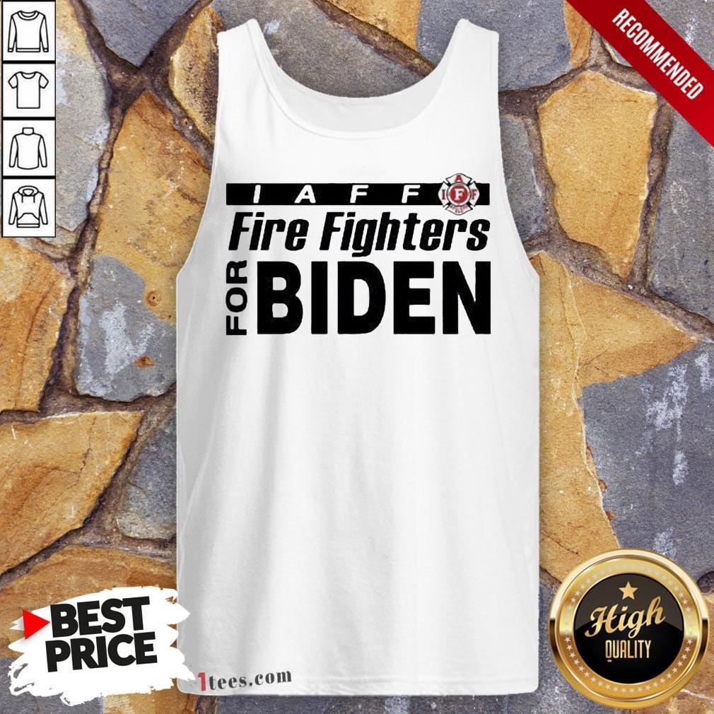 Good Iaff firefighters for biden Tank Top Design By T-shirtbear.com