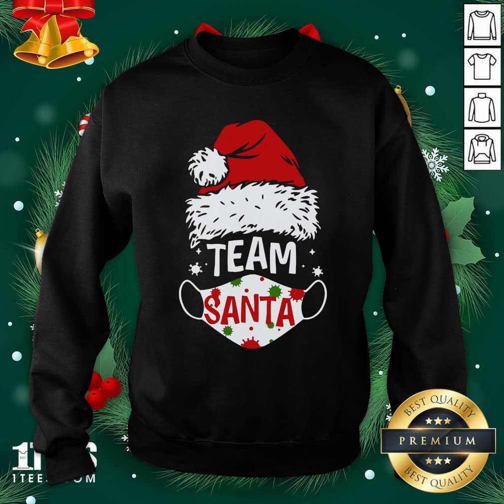 Team Santa Face Mask Christmas 2020 Cost Sweatshirt- Design By 1Tees.com