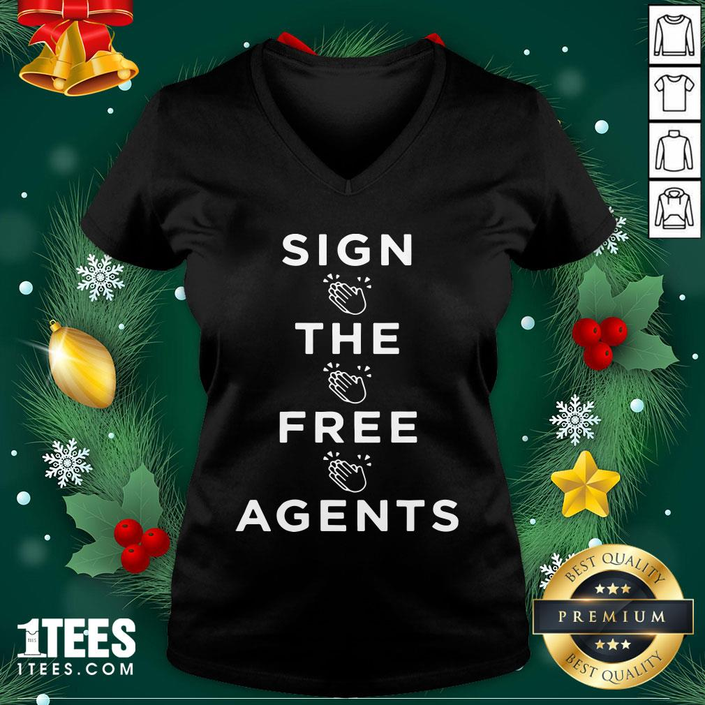 Lovely Sign The Free Agents V-neck Design By 1tee.com