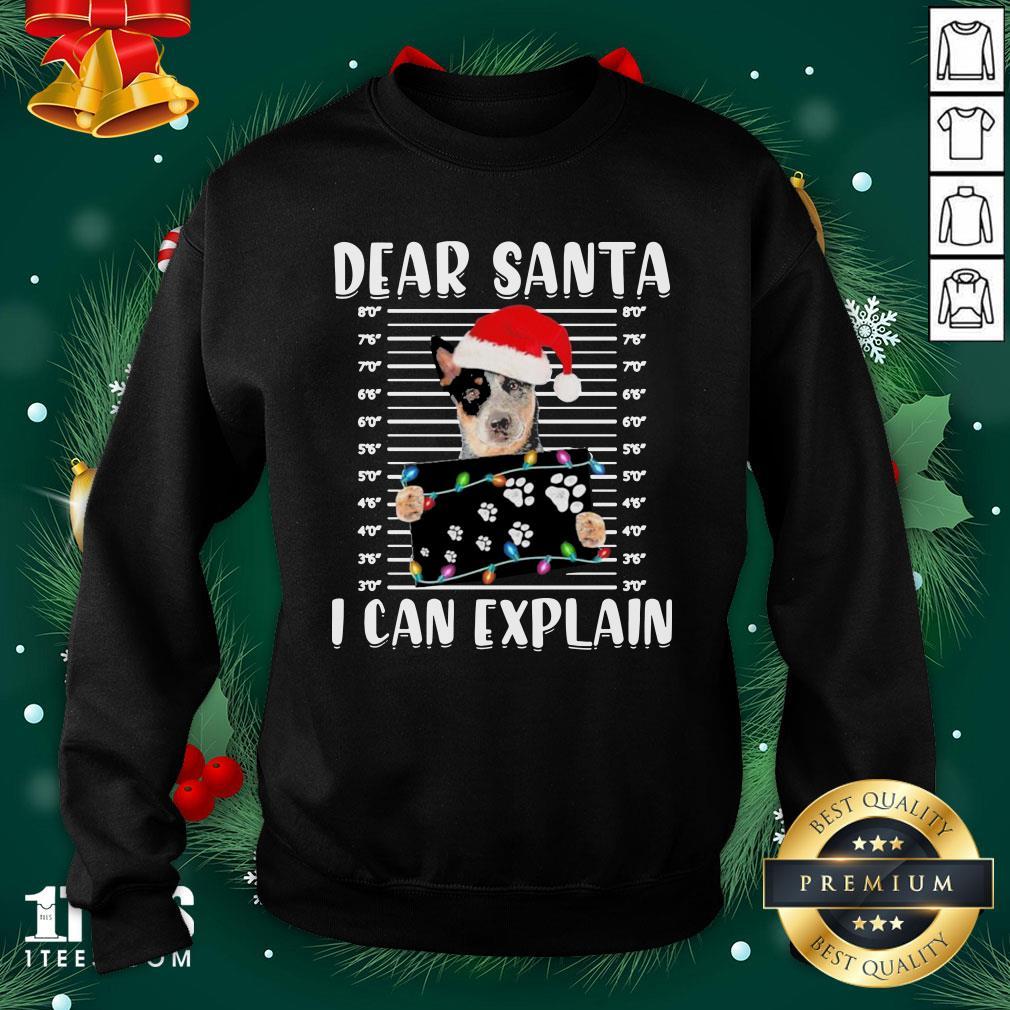 Nice Australian Cattle Dear Santa I Can Explain Christmas Sweater Sweatshirt - Design By 1tee.com