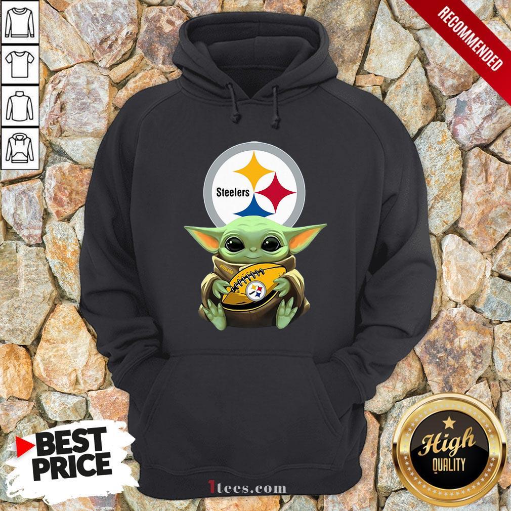 Nice Baby Yoda Hug Rugby Steelers Hoodie Design By T-shirtbear.com