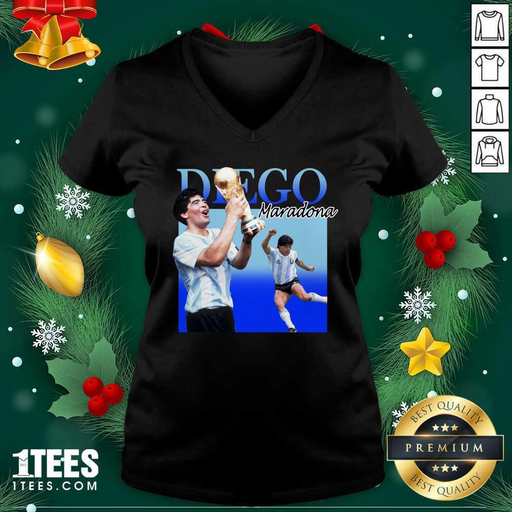 Diego Armando Maradona Soccer World Cup V-neck- Design By 1Tees.comPremium Diego Armando Maradona Soccer World Cup V-neck