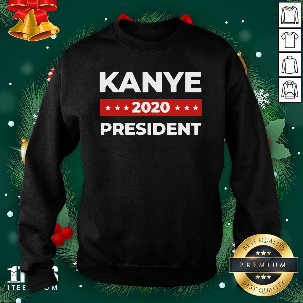 Premium Kanye West For President Sweatshirt Design By 1tee.com