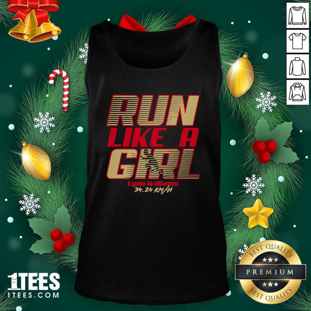Premium Run Like A Girl Lynn Williams Tank Top - Design By 1tee.com