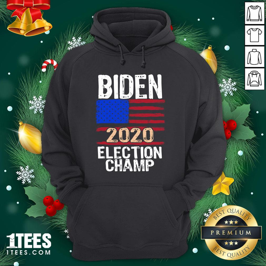 Wonderful Biden 2020 Election Champ American Flag Hoodie - Design By 1tee.com