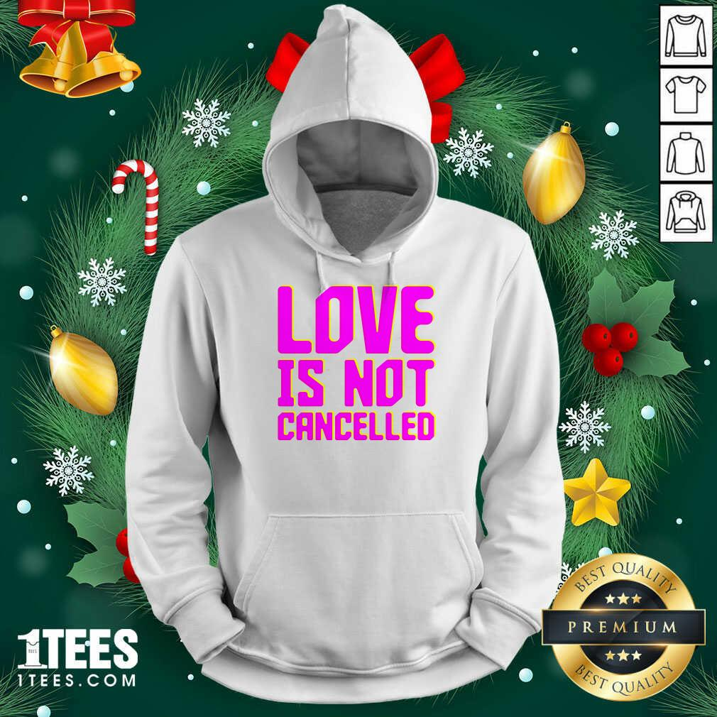 Lisa Power love Is Not Cancelled Hoodie- Design By 1tees.com