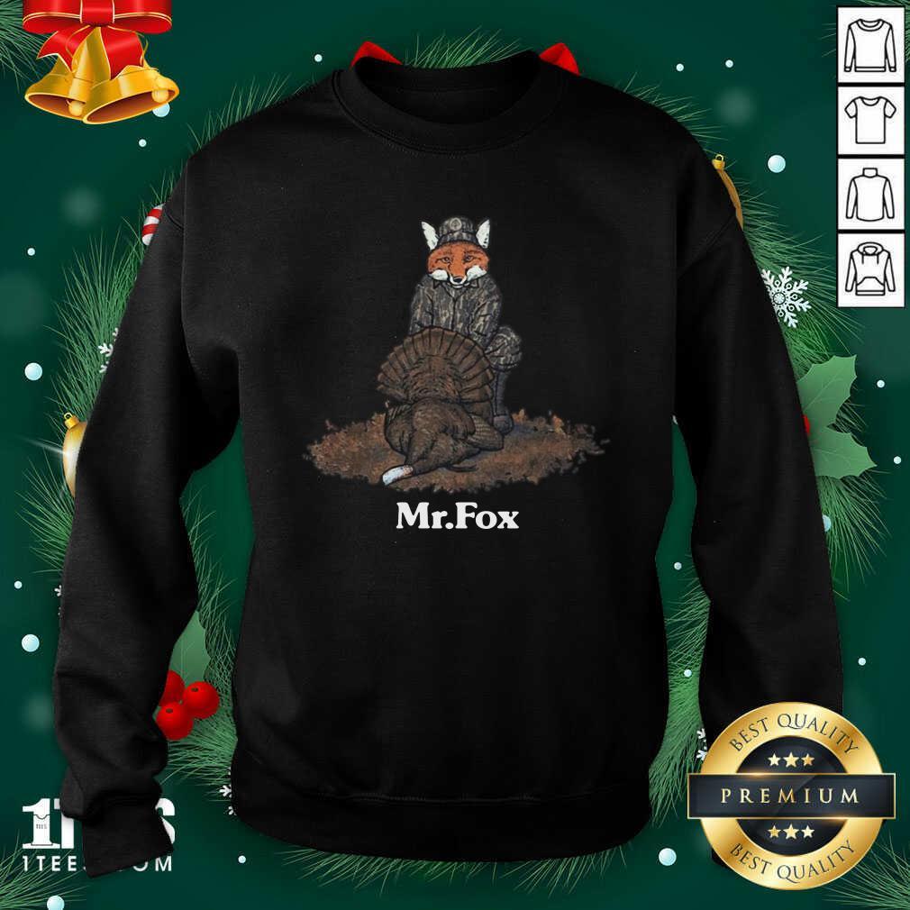 Mr Fox Sweatshirt- Design By 1tees.com