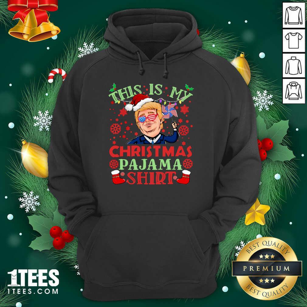 Donald Trump This Is My Christmas Pajama American Flag Hoodie- Design By 1tees.com