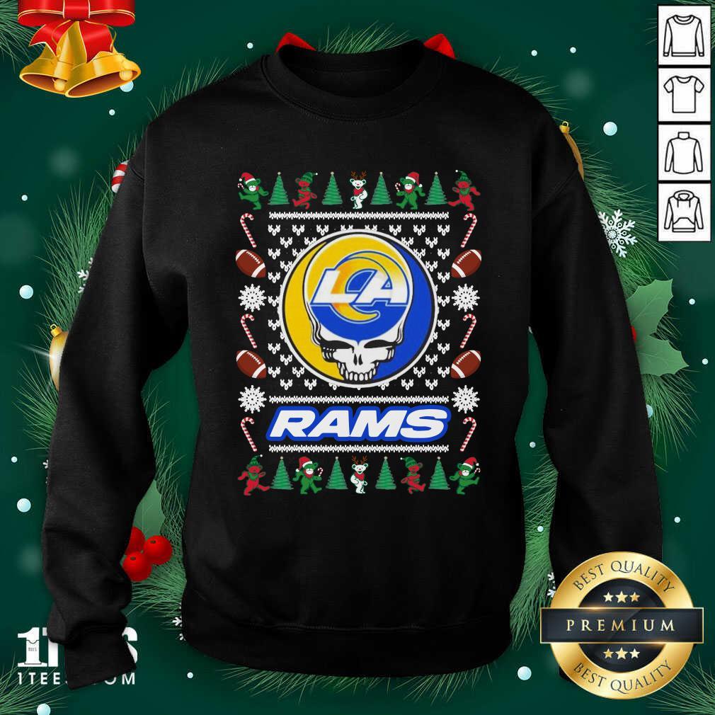 Los Angeles Rams Grateful Dead Ugly Christmas Sweatshirt- Design By 1tees.com