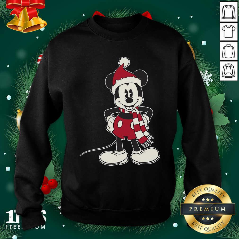 Mickey Mouse Santa Hat Merry Christmas Sweatshirt- Design By 1Tees.com