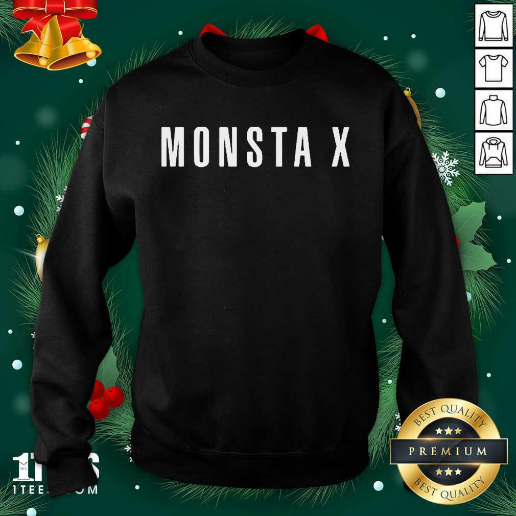 Monsta X Merch Monsta X Llogo Sweatshirt- Design By 1tees.com