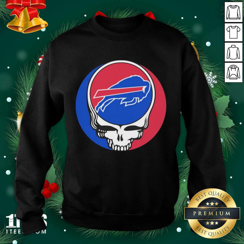 Grateful Dead Buffalo Bills Sweatshirt- Design By 1Tees.com