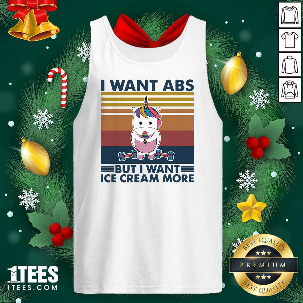 Unicorn I Want Abs But Want Ice Cream More Vintage Tank Top- Design By 1tees.com