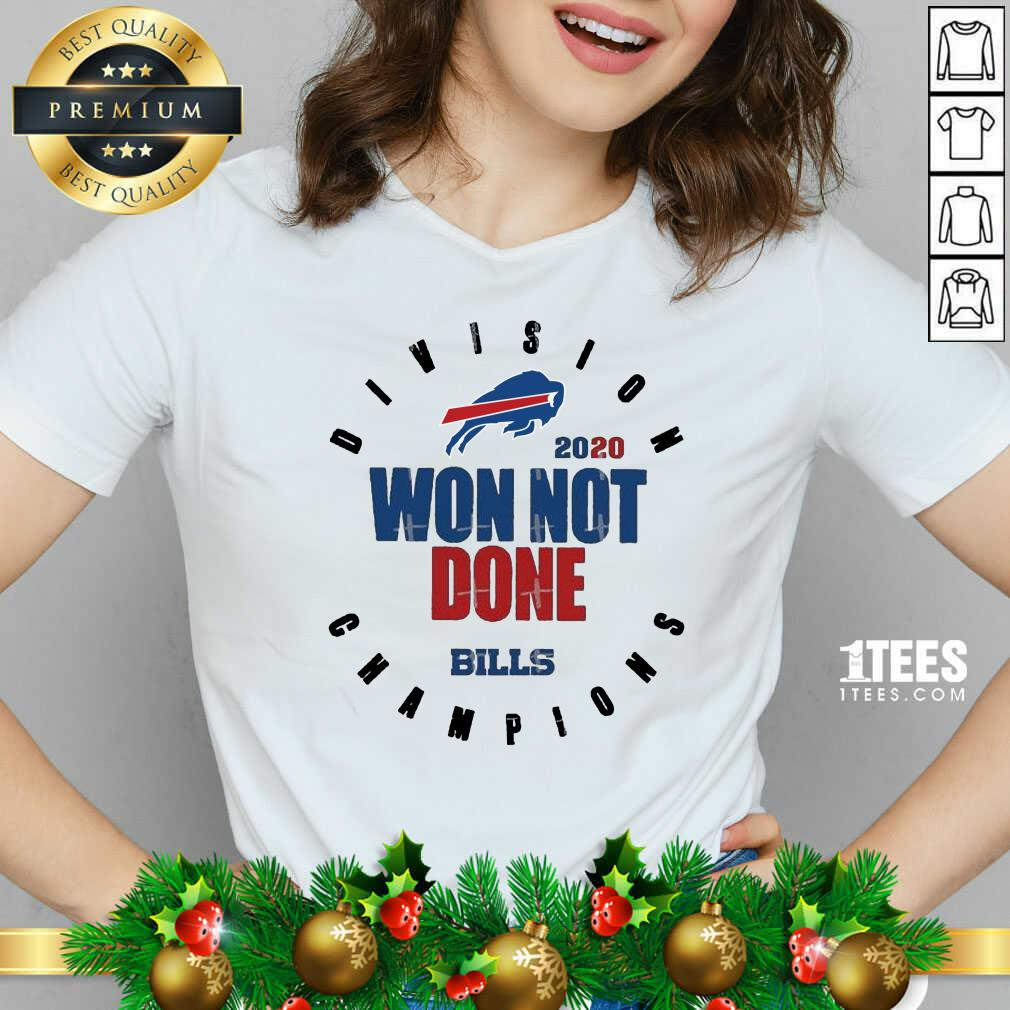 2020 Won Not Done Division Champions Buffalo Bills V-neck- Design By 1tees.com
