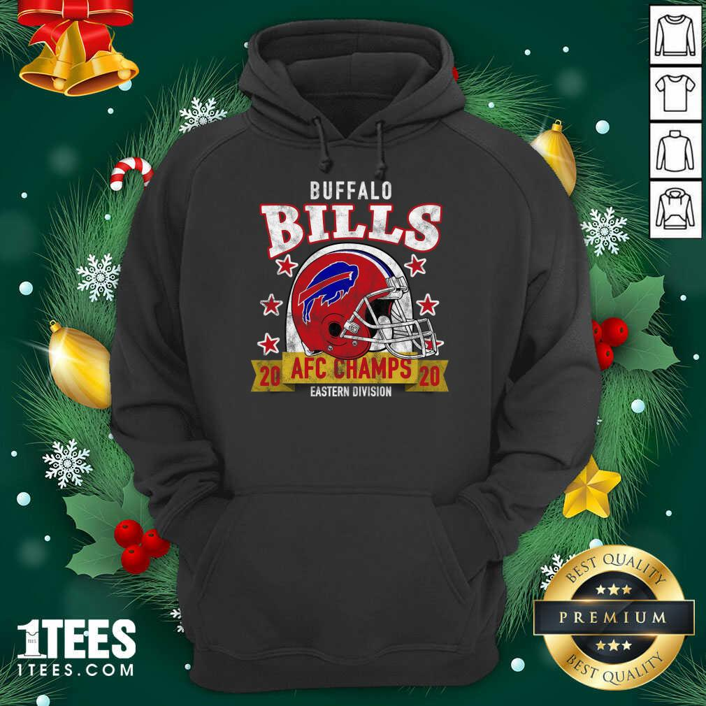 Distressed Bills 2020 Afc East Champs Hoodie- Design By 1Tees.com