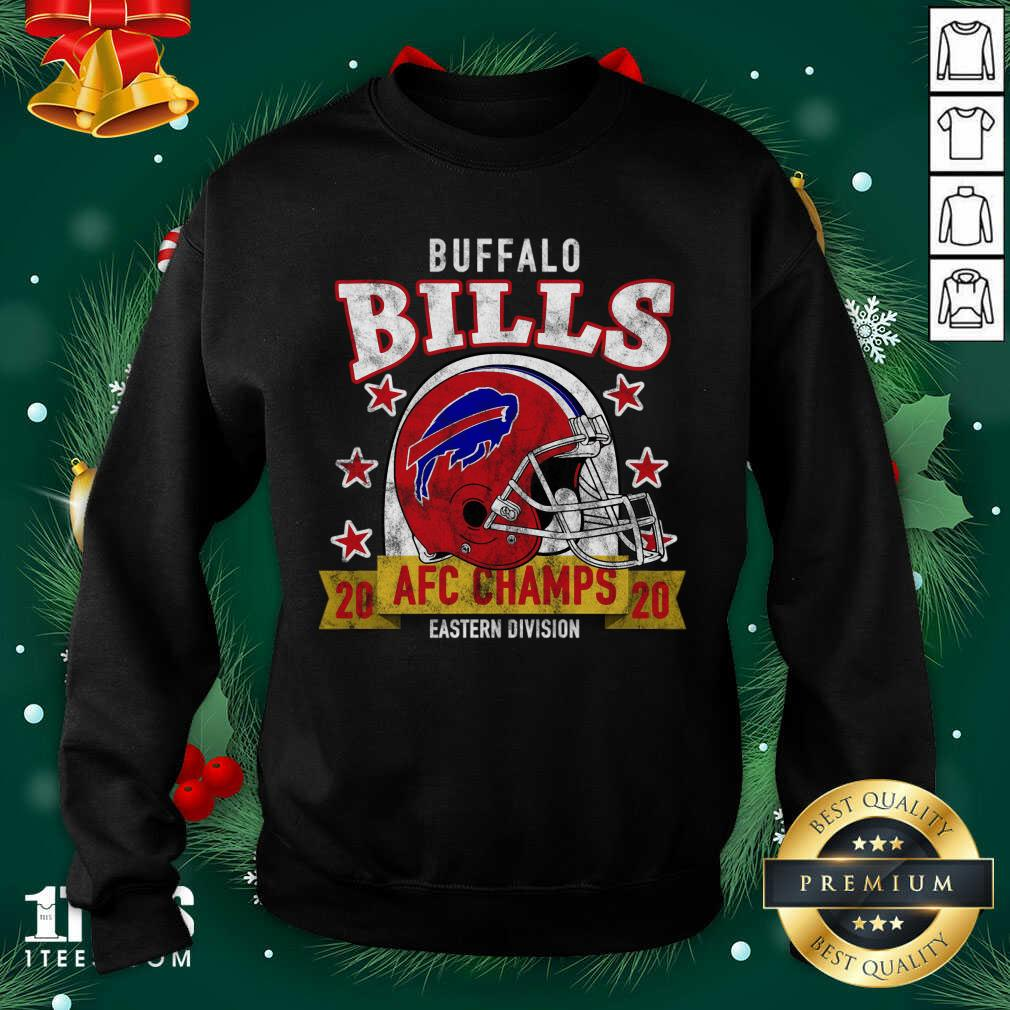 Distressed Bills 2020 Afc East Champs Sweatshirt- Design By 1tees.com