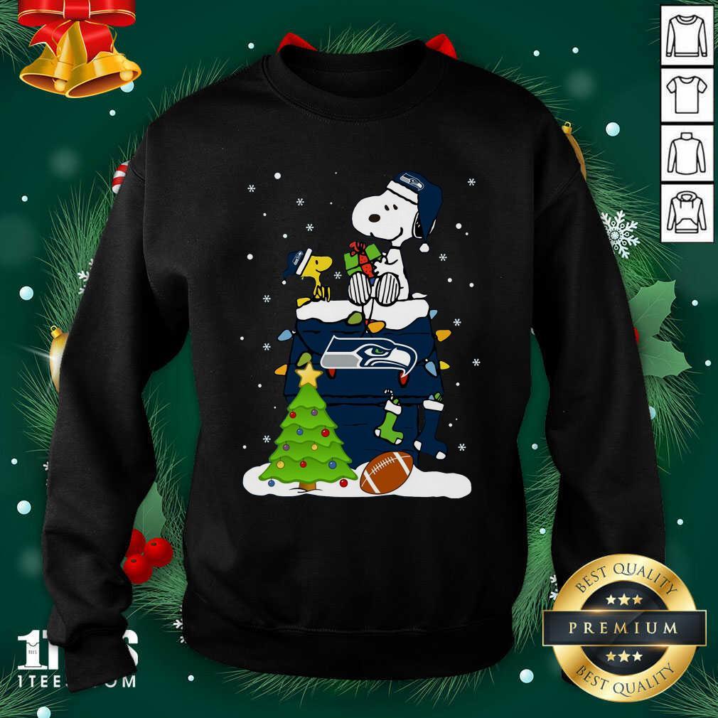 Snoopy Merry Christmas Nfl Seahawks Unisex Sweatshirt- Design By 1Tees.com