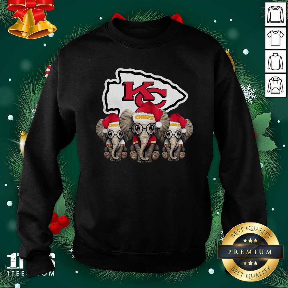 Kansas City Chiefs Elephant Christmas Sweatshirt- Design By 1Tees.com