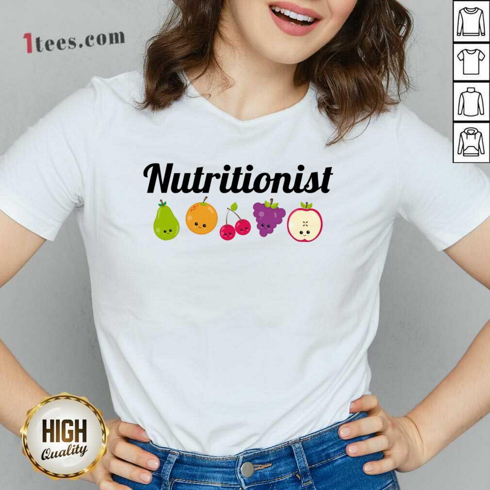 Nutritionist Nutrition Funny Fruit Gift V-neck- Design By 1Tees.com