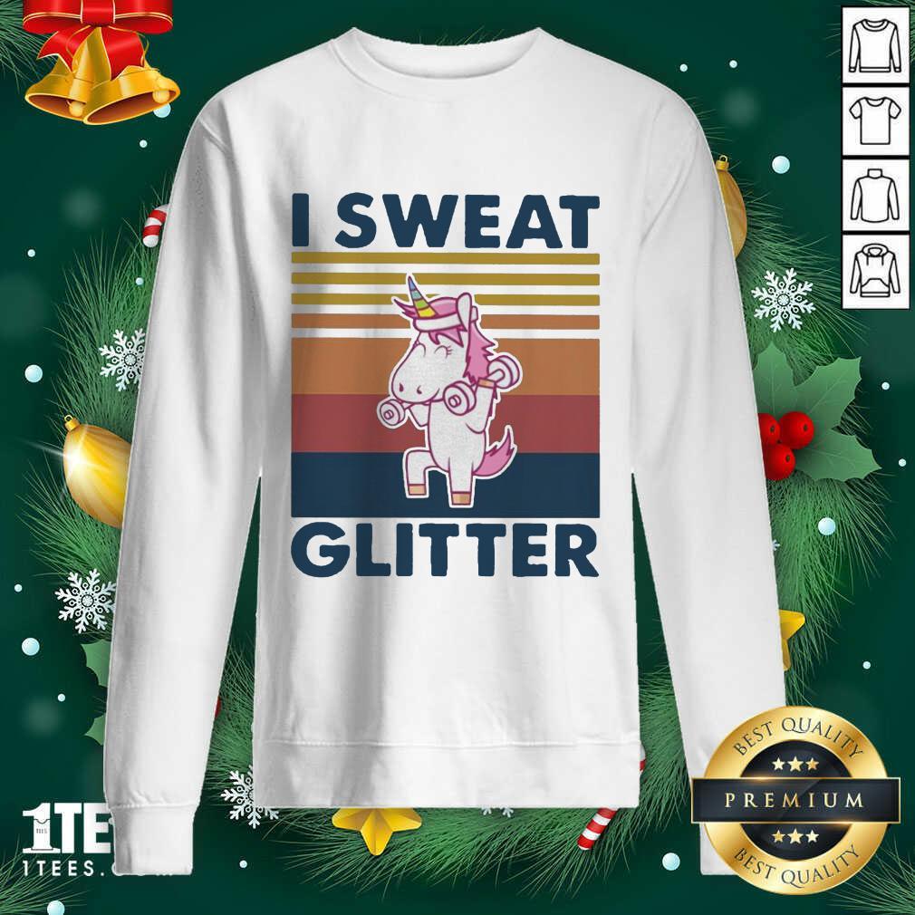 Unicorn I Sweat Glitter Vintage Sweatshirt- Design By 1tees.com