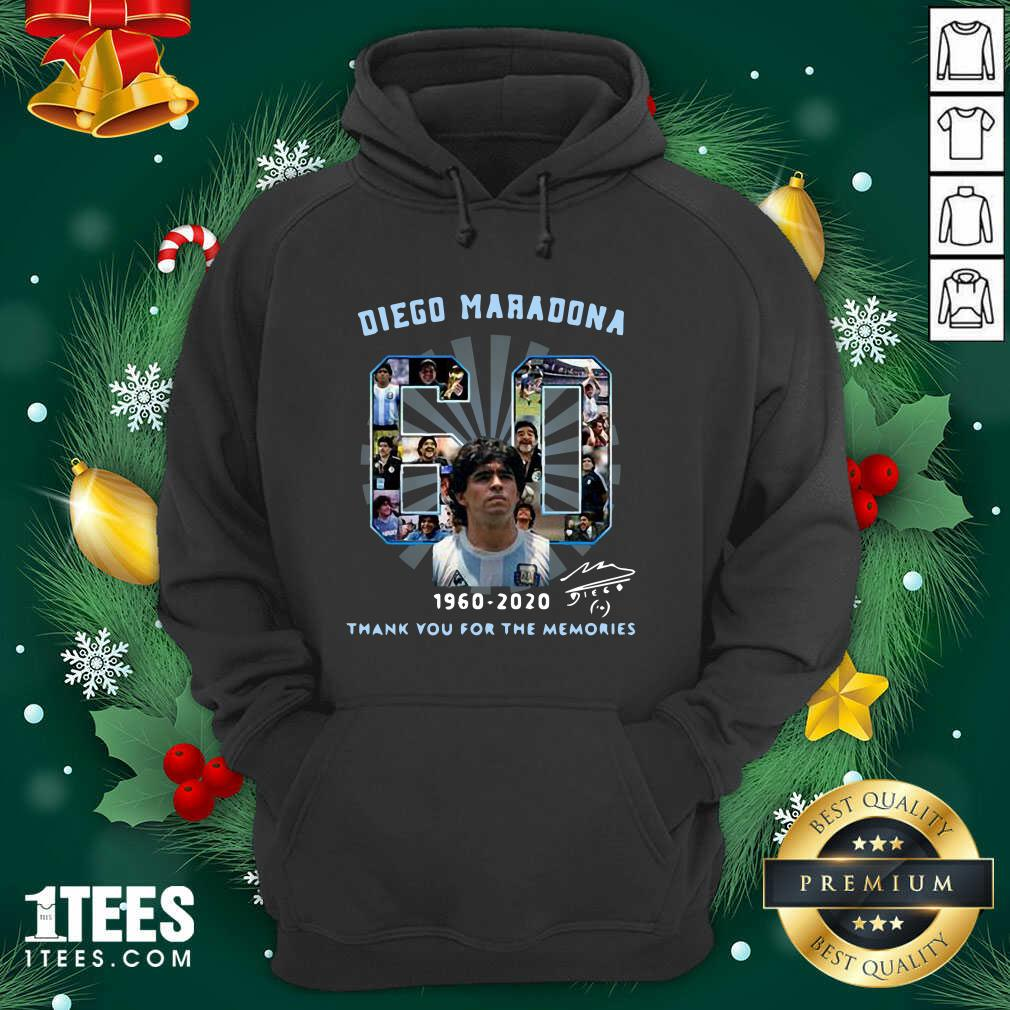 Diego Maradona 60 Years 1960 2020 Thank You For The Memories Hoodie- Design By 1Tees.com