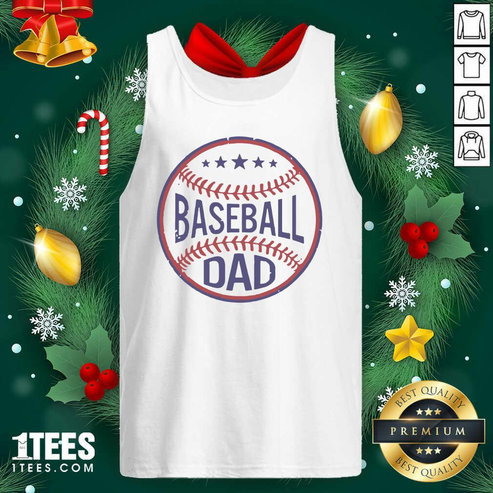Baseball Dad Player Son Fathers Day Husband Daddy Grandpa Tank Top- Design By 1Tees.com