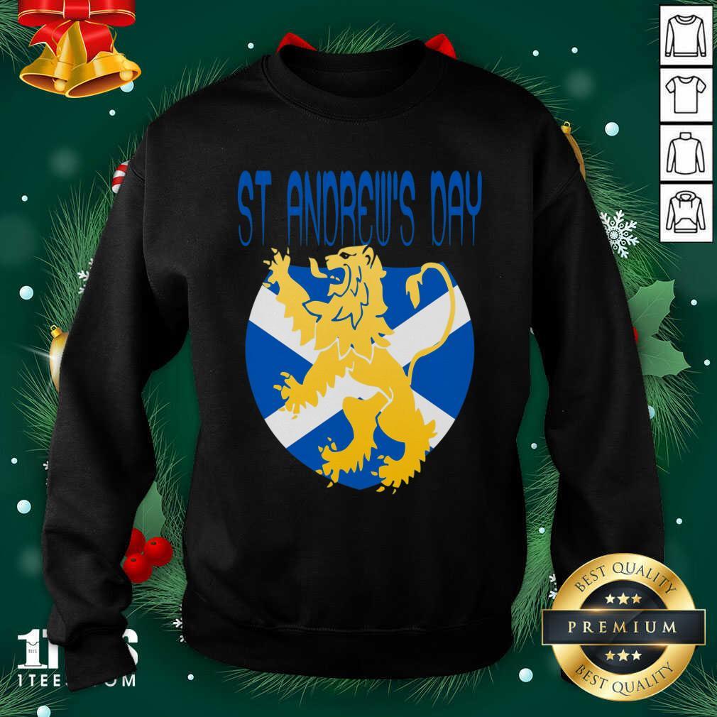 Happy St Andrews Day Sweatshirt- Design By 1Tees.com