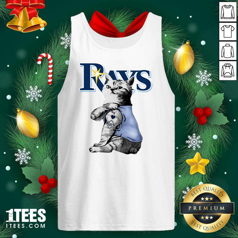 Tattoo Cat I Love Tampa Bay Rays Tank Top- Design By 1tees.com