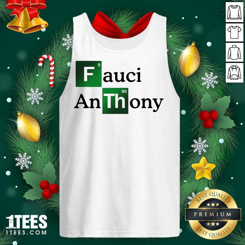 Fauci Anthony We Trust In Science Chemistry Wear A Mask Not Morons Tank Top- Design By 1tees.com