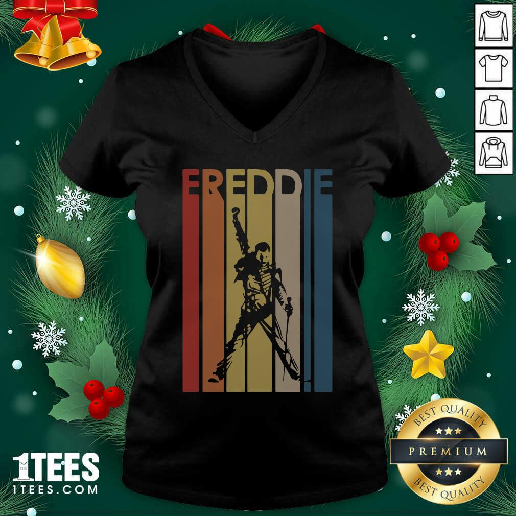Freddie Mercury Vintage V-neck- Design By 1Tees.com