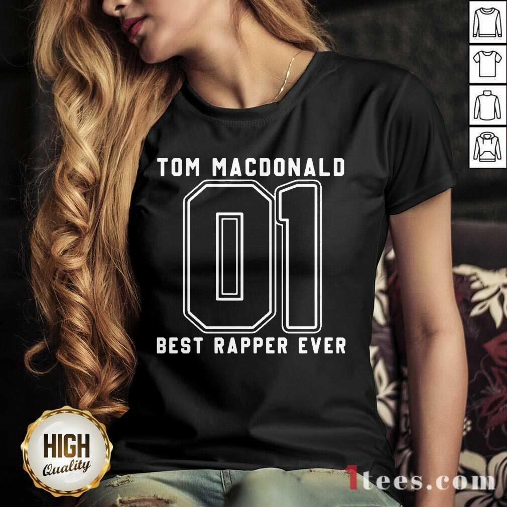 Tom MacDonald Best Rapper Ever V-neck- Design By 1Tees.com