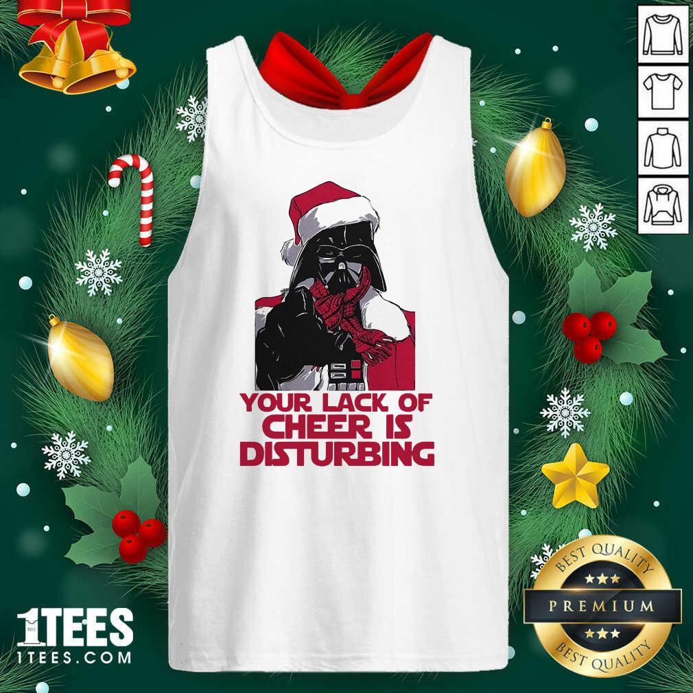 Darth Vader Your Lack Of Cheer Is Disturbing Christmas Tank Top- Design By 1Tees.com