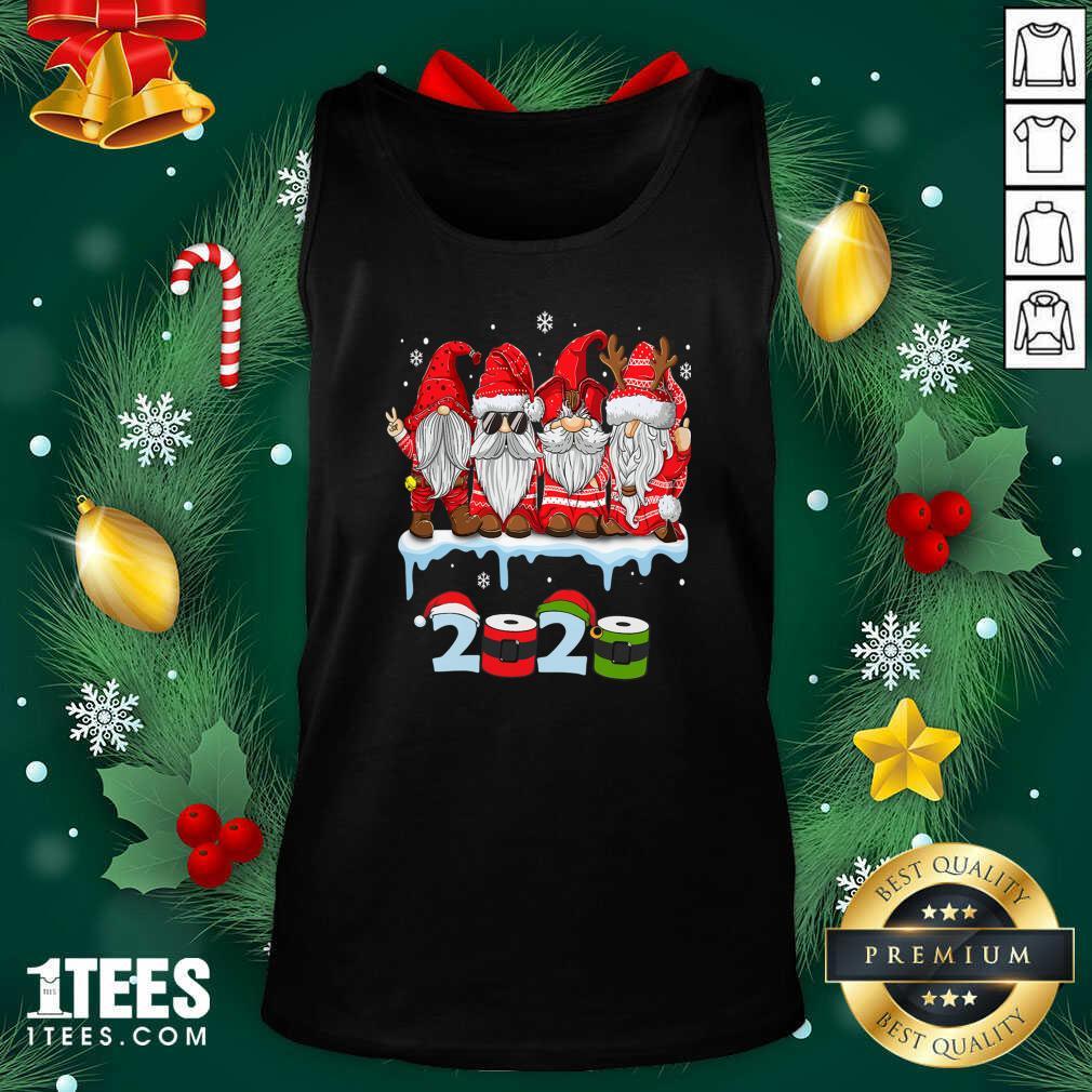 Merry Christmas Gnomes Wear Mask 2020 Quarantine Xmas Tank Top- Design By 1Tees.com