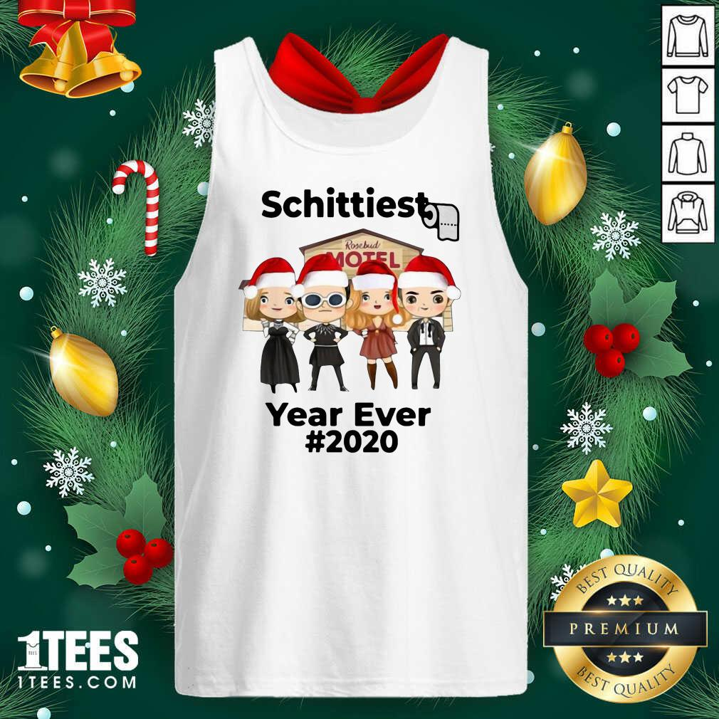 Schitts Creek Characters Chibi Schittiest Year Ever 2020 Christmas Tank Top- Design By 1tees.com