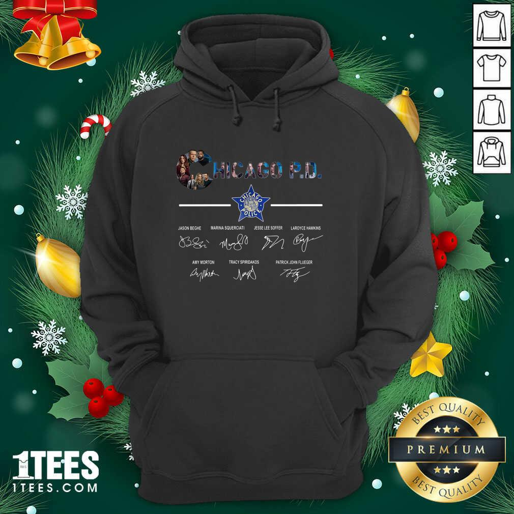 Chicago PD Signatures Hoodie- Design By 1Tees.com