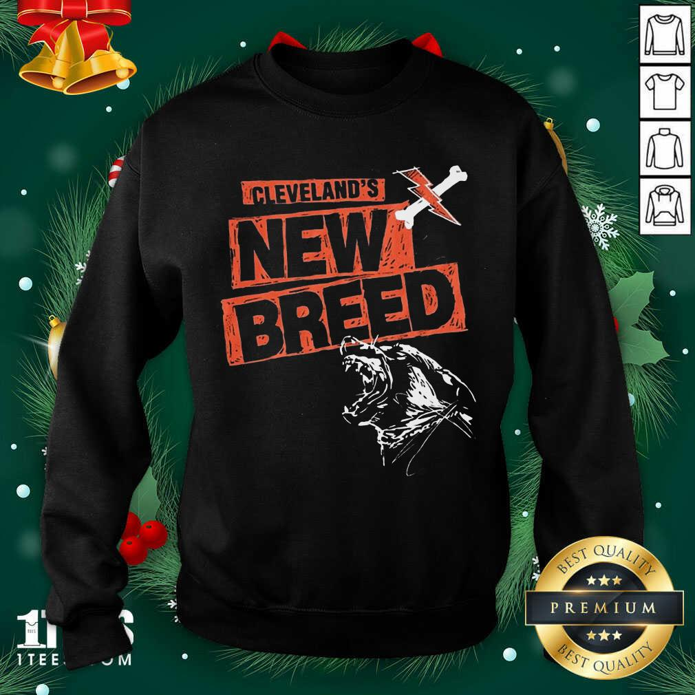 Cleveland Football New Breed Sweatshirt- Design By 1Tees.com