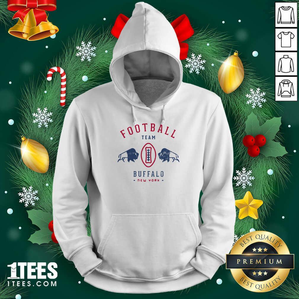 Cool modern Buffalo Bills Retro Team Crest Hoodie- Design By 1Tees.com
