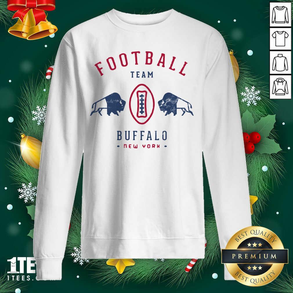 Cool modern Buffalo Bills Retro Team Crest Sweatshirt- Design By 1Tees.com