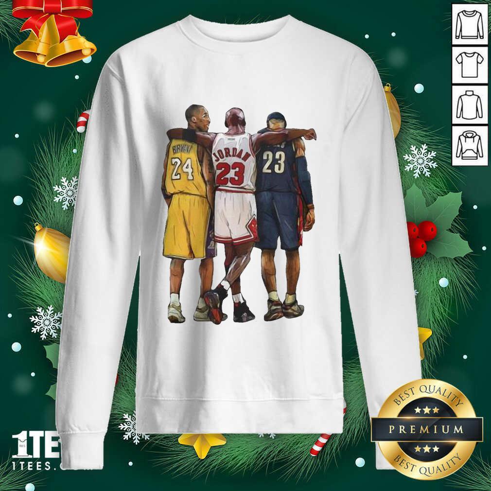 Nba All Stars Kobe Bryant Lebron James Michael Jordan Sweatshirt- Design By 1Tees.com