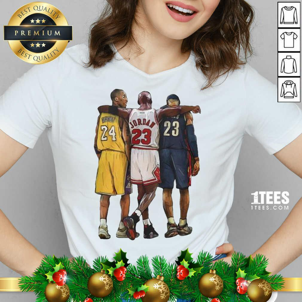 Nba All Stars Kobe Bryant Lebron James Michael Jordan V-neck- Design By 1Tees.com