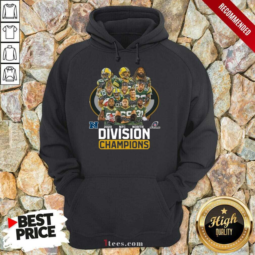 Green Bay Packers 2020 Nfc North Division Champions Hoodie- Design By 1tees.com