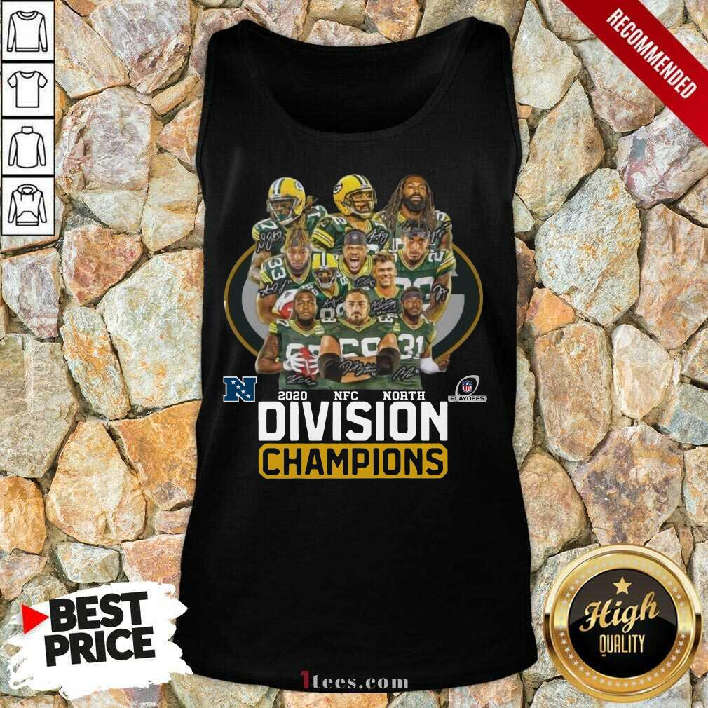Green Bay Packers 2020 Nfc North Division Champions Tank Top- Design By 1Tees.com