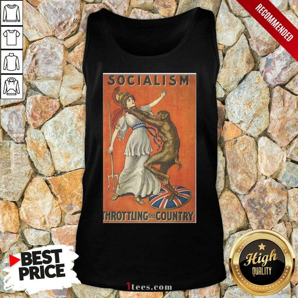 Socialism Throttling The Country Tank Top- Design By 1Tees.com