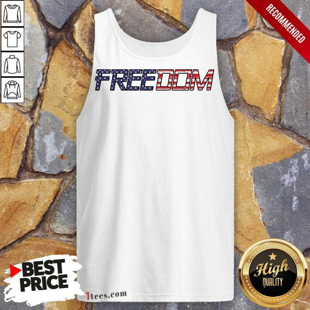 American Flag Patriotic Freedom Tank Top- Design By 1tees.com